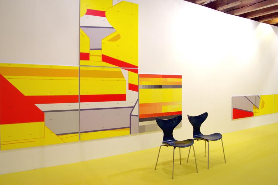 Beate Baumgärtner, HSH EndlosSchichtungen, Doppelausstellung mit Hannes Trüjen