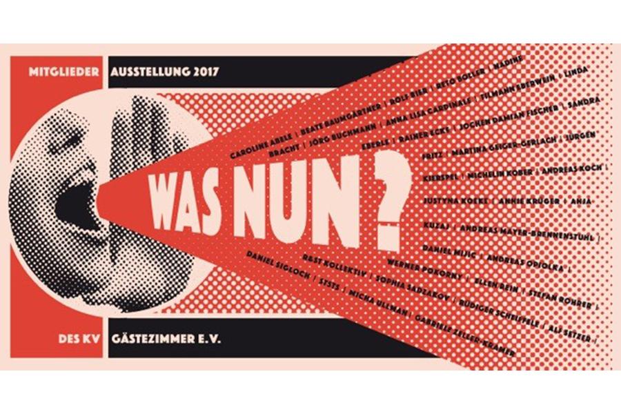 Beate Baumgärtner, Was nun?, Chatbook Poster, Kunstverein Gästezimmer